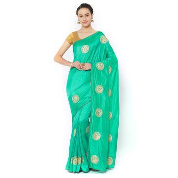 SATIMA | Satima TurquoiseSilk BlendZari Saree