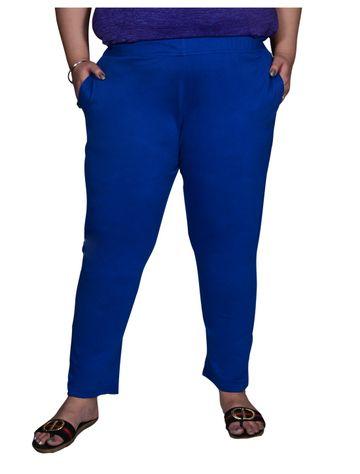 XMEX | Xmex Plus Size Blue Cotton Plain Pajama for Women