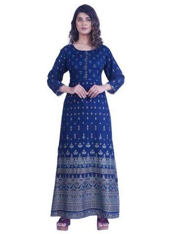 Pinkblock.in | Blue Long Gown