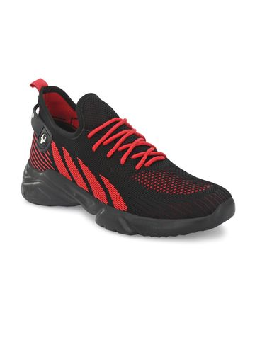 Hirolas | Hirolas® Knitted athleisure Sports Shoes - Black/Red