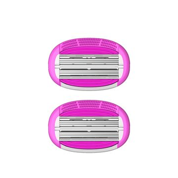 LetsShave | LetsShave Evior 6 Body Razor Blade Refills - Twin Three Blade Design Blade (Pack of 2)