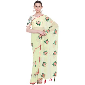 SATIMA | SatimaGeorgetteEmbroidery Saree
