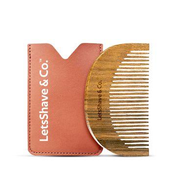 LetsShave | LetsShave Neem Wood Beard Comb - 100% Neem Wood Comb