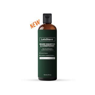 LetsShave | LetsShave Beard Wash Shampoo and Conditioner - Soft Shiny Frizz Free Beard - 150 ml