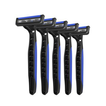 LetsShave | LetsShave Pro 2 Plus Disposable Razor - Twin Blade Disposable Shaving Razor (Pack of 5)