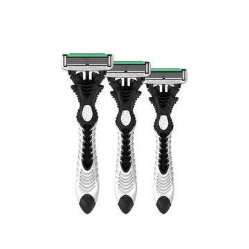 LetsShave | LetsShave Pro 6 Disposable Razor - 6-Blade Disposable Shaving Razor (Pack of 3)