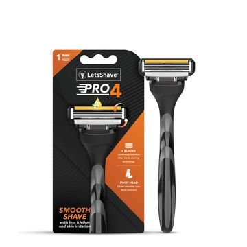 LetsShave | LetsShave Pro 4 Shaving Razor for Men - Pro 4 Blade + Razor Handle