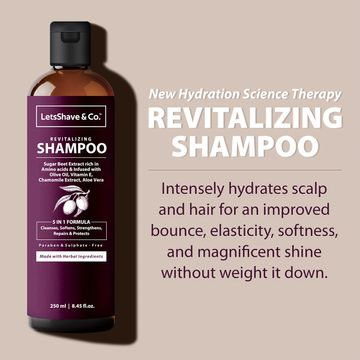 LetsShave | LetsShave Hydrating Shampoo - Smooth & Shiny Revitalization - 250 ml