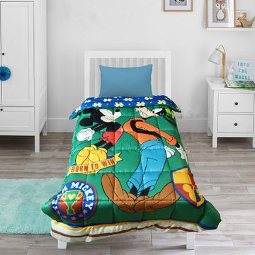 Mothercare | Wiggle Wink Mickey Mouse 100% Cotton Baby Blanket with Pillow Cover
