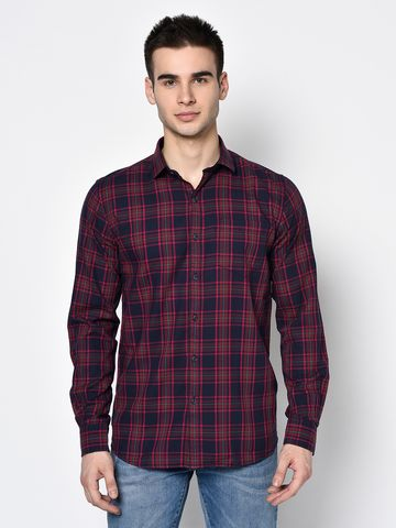 METTLE   Men PINK Casual Shirts