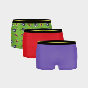 Bummer | Bummer Funktown+Ski Petrol + Chill Bill Micro Modal Boy Short-Pack of 3 For Women