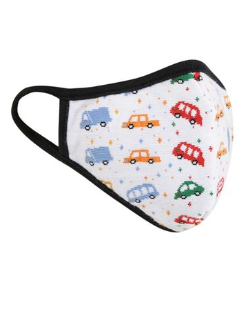 Soxytoes | Soxytoes White Bus Stylish Protective Super Safe Washable Knitted Cotton Kid's Face Mask