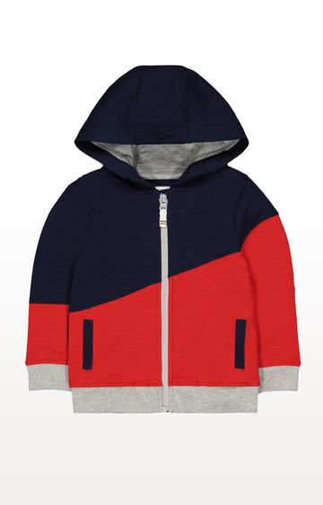 Mothercare | Navy and Red Colourblock Hoodie