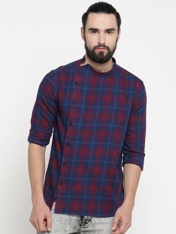 Showoff | Showoff Men's Cotton Checked Slim Casual Kurtas