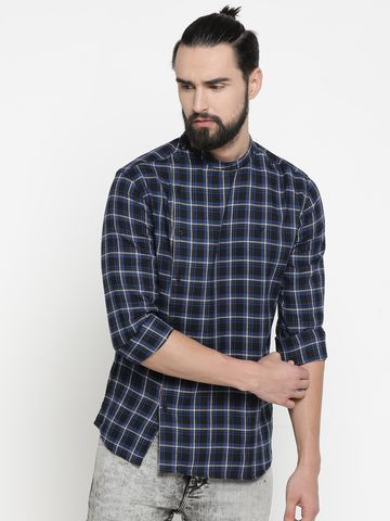 Showoff | Multi Showoff Men's Cotton Checked Slim Casual Kurtas