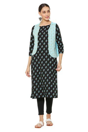 GAYRAA | Gayraa Women's rayon Embroidered jacket with kurta