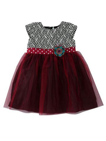 Popsicles Clothing | Popsicles Merlot Dress Regular Fit Dress For Girl