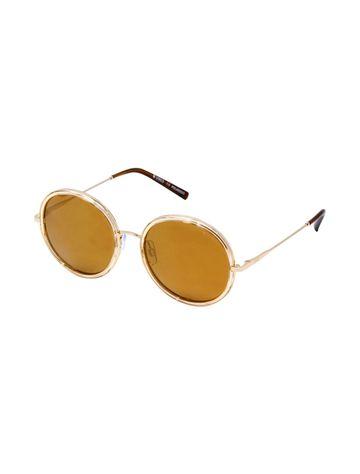 ENRICO | ENRICO Ryven UV Protected & Polarized Round Shape Unisex Sunglasses ( Lens - Yellow | Frame - Gold)