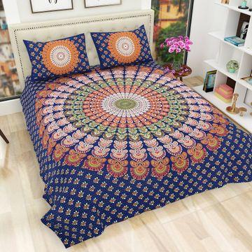 Pinkblock.in | Blue Cotton Neptol Bedsheets