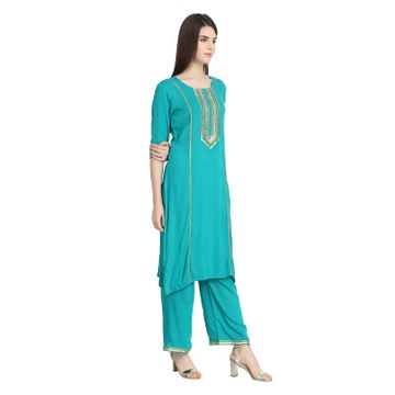 LABEL KARA | Regal Gota Patti Kurta with Palazzo