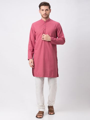 Ethnicity | Ethnicity Rose Pink Polyester Cotton Kp Set