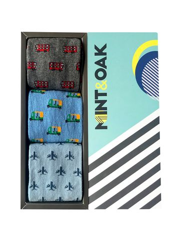 Mint & Oak | Mint & Oak On The Move Calf Length Socks for Men - Pack of 3