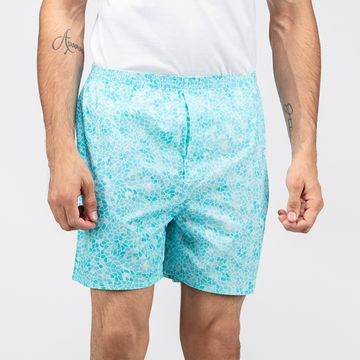 Whats Down | Blue Mosaic Boxers