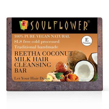 Soulflower | Reetha - Coconut Milk Shampoo Bar Soap - 150gm