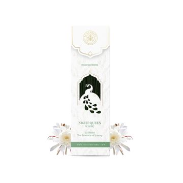 LUXURIATE | LUXURIATE Nightqueen (Raat Rani) Ayurvedic,Organic,Natural & Non-Toxic Incense Sticks-Great for Yoga, Meditation, Home Fragrance, and as Air Purifie,(Contains 20 Incense Sticks/Natural Agarbatti)