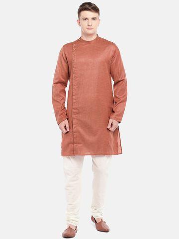 Ethnicity | Ethnicity Deep Mustard Cotton Viscose Men Kurta