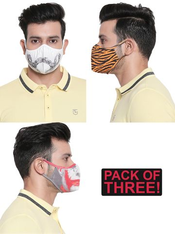 spykar | Assorted Designer Face Mask - Set of 3