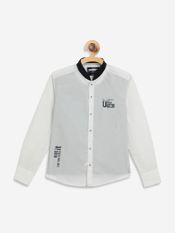 OCTAVE   Boys WHITE Casual Shirts