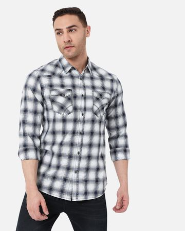 GAS | Men's Kant Ec In Slim Fit Checkered shirt