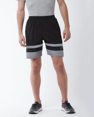 Masch Sports | Masch Sports Men's Gym Shorts Regular Fit Polyester (MSSH-0618-CS-321-BG_S_Black_S)