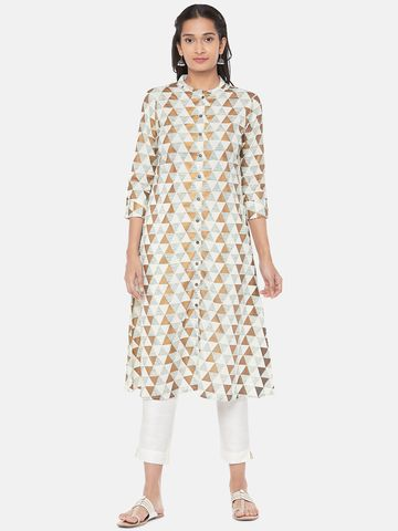Ethnicity | Powerloom Straight Women Green Kurta