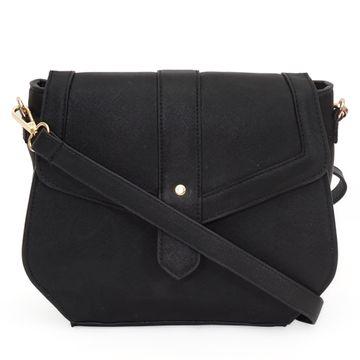 DIWAAH   Diwaah Black Color Casual Sling Bag
