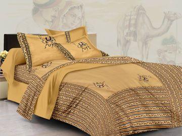 Pinkblock.in | Beige Cotton Patchwork Bedsheet