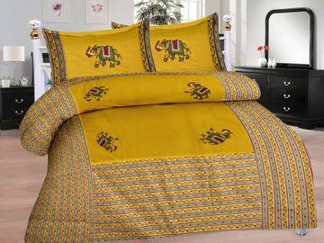 Pinkblock.in | Green Cotton Patchwork Bedsheet