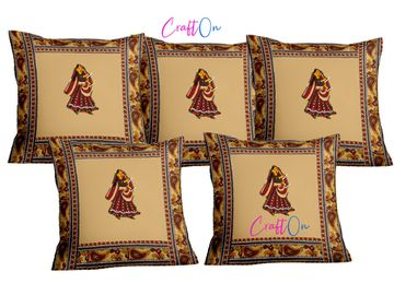 Pinkblock.in | Patchwork Cushion Covers Set of 5