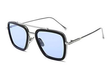 CREATURE | CREATURE UV Protected Unisex Sunglasses (Lens-Blue|Frame-Silver)