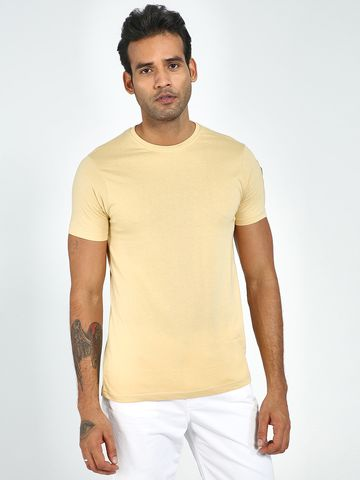 Blue Saint | Blue Saint Men's Brown Skinny Fit T-Shirts