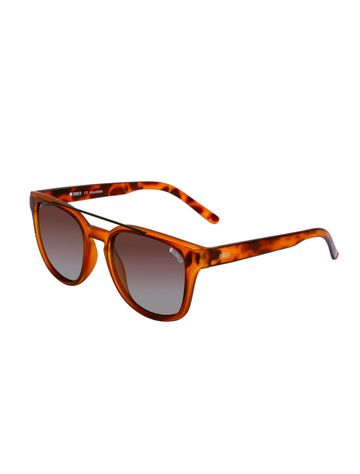 ENRICO | ENRICO Iceberg UV Protected Unisex Wayfarer Sunglasses ( Lens - Purple | Frame - Brown)