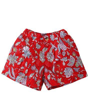 Popsicles Clothing | Popsicles Crimson Shorts Regular Fit Dress For Girls