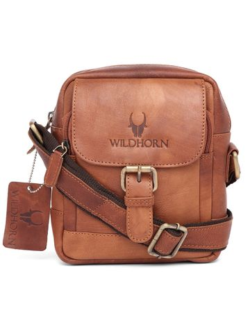 WildHorn | WildHorn Genuine Leather Tan Messenger Bag for Men
