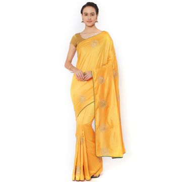 SATIMA | Satima YellowSilk BlendZari Saree