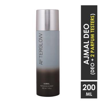 Ajmal | Ajmal After Glow High Quality Deodorant Fresh Fragrance 200ML Casual Wear for Unisex + 2 Parfum Testers