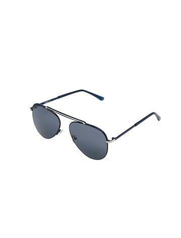 ENRICO | ENRICO Walferty UV Protected Aviator Sunglasses Unisex ( Lens - Blue | Frame - Blue)