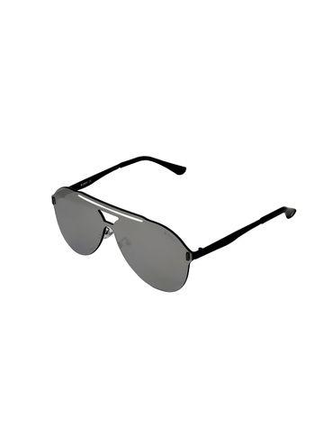 ENRICO | ENRICO Mask UV Protected Aviator Sunglasses for Men ( Lens - Grey | Frame - Black)
