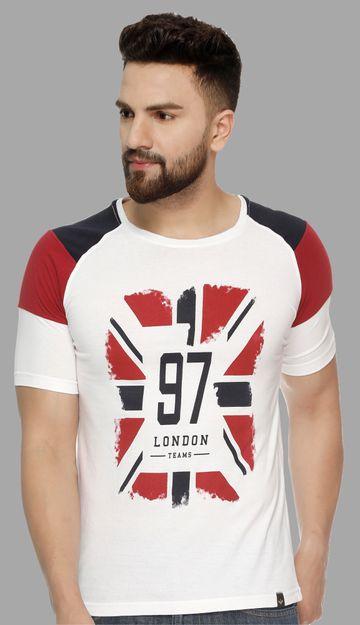 VEIRDO | Veirdo White Chest Printed Men T-shirt
