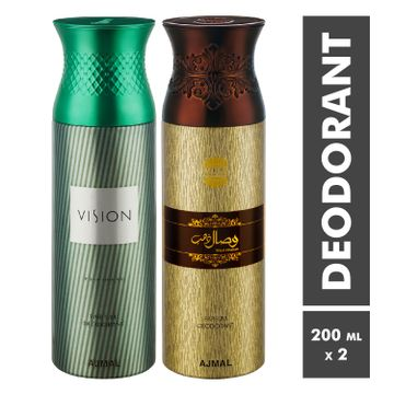 Ajmal | Vision Homme and Wisaldhahab Deodorant Spray - Pack of 2